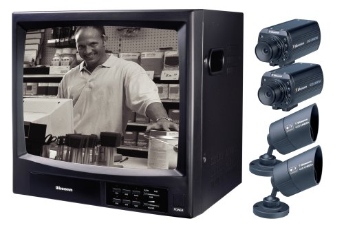 Wisecomm OW1415 14-inch B&W Observation System with Two Indoor and Outdoor Day & Night Cameras