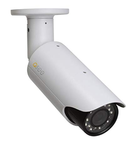 Q-See QCN8002B 1080p High Definition Weatherproof IP Bullet Camera (White)