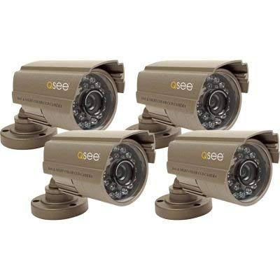 Q-See QSDS14273X4 4 Pack of Premium CCD Color Surveillance Camera with 420 TV Lines of Resolution