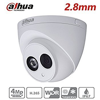 Dahua IP Camera IPC-HDW4433C-A 2.8mm 4MP Dome Indoor Outdoor IR 50M IP67 Bulit in Mic Security Camera International Version