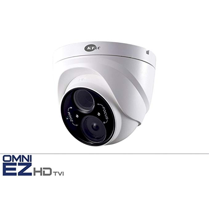 KT&C KEZ-c1TR28V12XIR OMNI EZ HD-TVI 720P OUTDOOR EXIR TURRET/ EYEBALL / DOME CAMERA with 2.8-12MM Lens UTC CONTROL IP66 WEATHER RESISTANT