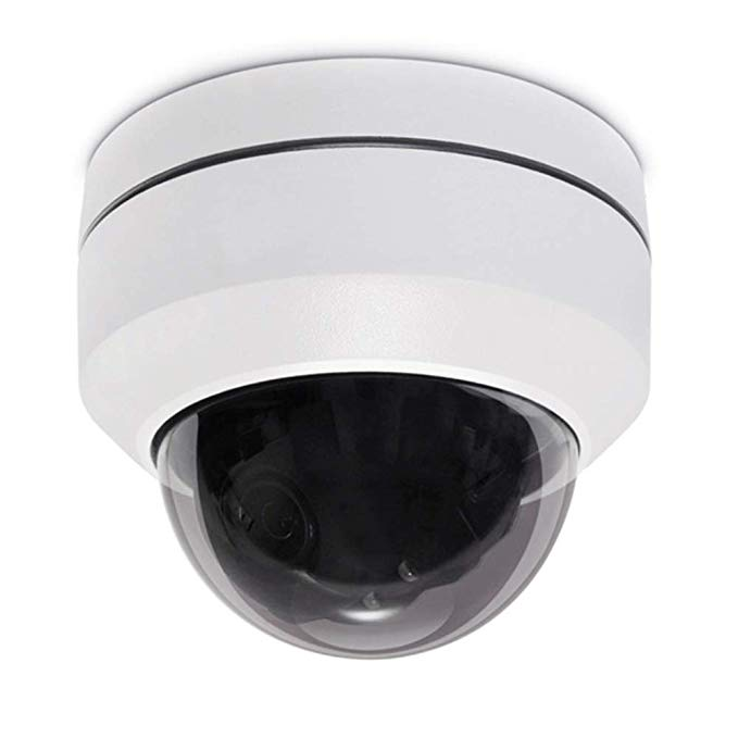 IMPORX 1080P 3X PTZ Camera with POE - 3X Optical Zoom, 1920x1080P, IR Night Vision, IP66 Waterproof Outdoor Security Dome IP Camera