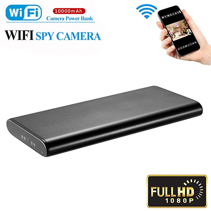 AMCSXH HD 1080P 10000mAh WiFi Hidden Power Bank Camera Wireless Motion Detection, Spy Power Bank Camera,Night Vision, Security Surveillance Camera Nanny Cam, Security for Home and Office,