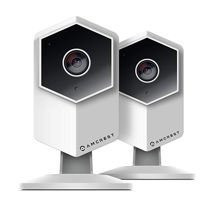 2-Pack Amcrest ProHD Shield Wireless IP Security Camera, 960P 1.3 Megapixel (1280x960P), Two-Way Audio, Super Wide 140° Viewing Angle, MicroSD & Cloud Recording, Night Vision, IPM-HX1W (White)