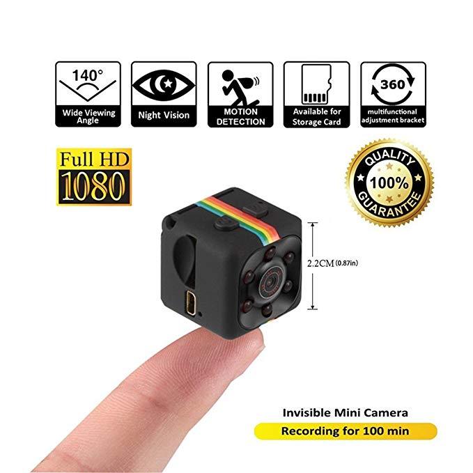 Spy Camera - Mini Hidden Cam by Evoquip Surveillance - HD 1080P METAL BODY DVR Recorder - 32GB Memory Included