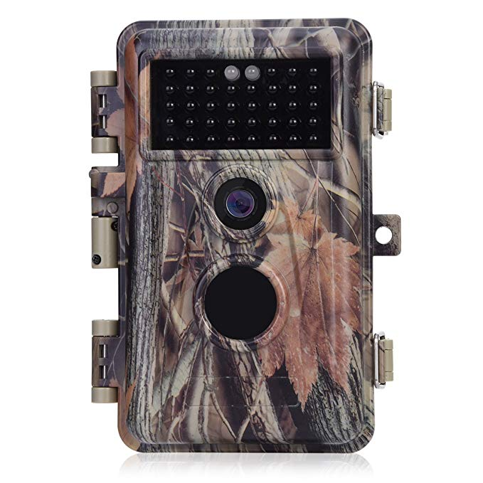 [Upgraded] BlazeVideo 16MP HD 1080P Video Trail Game Camera Hunters Wildlife Hunting Cam No Glow 38 IR LEDs 65ft Night Vision PIR Motion Activated Sensor IP66 Waterproof Password Protected 2.4