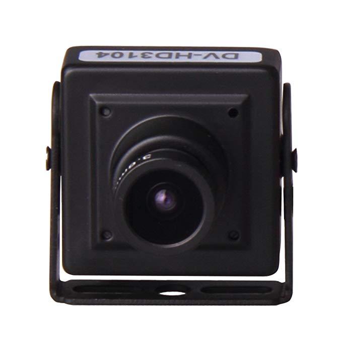 D-VITEC DV-HD3104 HD-SDI Miniature Square Security Surveillance Camera (Black)