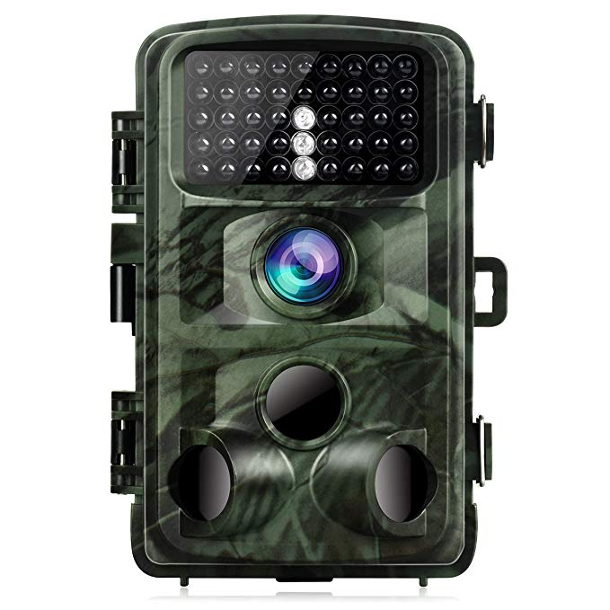 TOGUARD Trail Camera 14MP 1080P Hunting Camera with Night Vision Motion Activated Wildlife Game Cam 120° Detection with 0.3s Trigger Speed 2.4