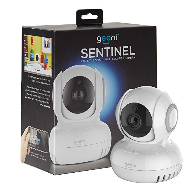 Geeni Sentinel Wireless Security Camera, WiFi Home Surveillance IP Camera for Baby/Elder/ Pet/Nanny Monitor, Pan/Tilt, Two-Way Audio & Night Vision