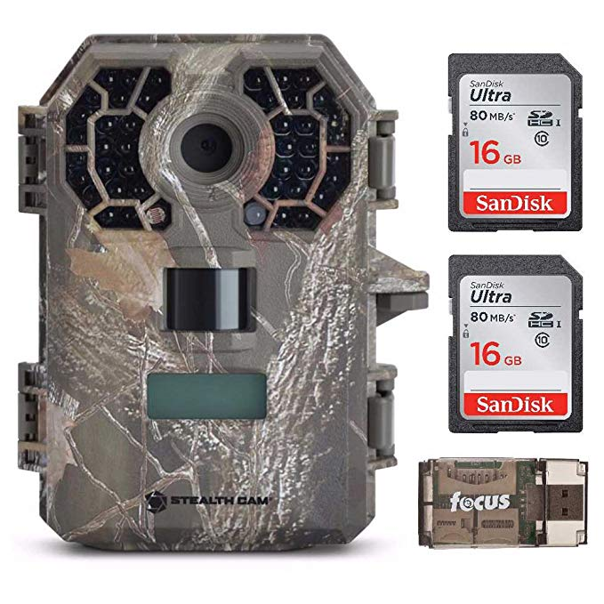 Stealth Cam G42 No-Glo Trail Game Camera STC-G42NG with 2 16GB Cards and Focus USB Reader