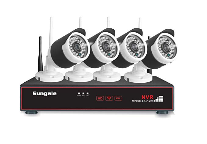 Sungale SG-WK204 Monitoring Kit, Complete Surveillance System, Black/White