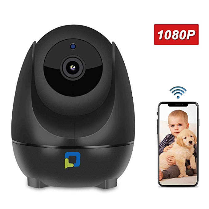 1080P Wireless WiFi Security Camera, OPTJOY Home Indoor Surveillance IP Camera with HD Night Vision,Motion Tracking,Pan/Tilt/Zoom,Two-Way Audio,Motion Detection, iOS/Android App, Free Cloud Service