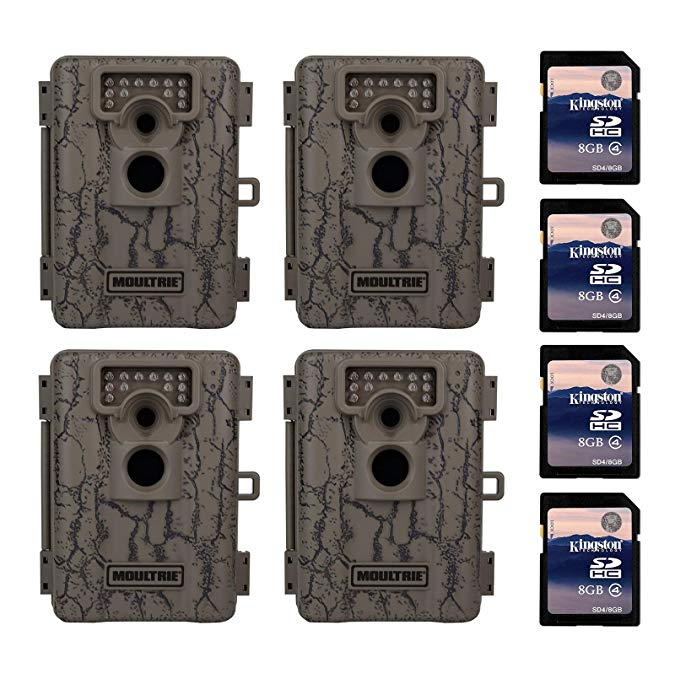 Moultrie A-5 5 MP Trail Game Camera, 4-Pack w/ SD Cards (Certified Refurbished)