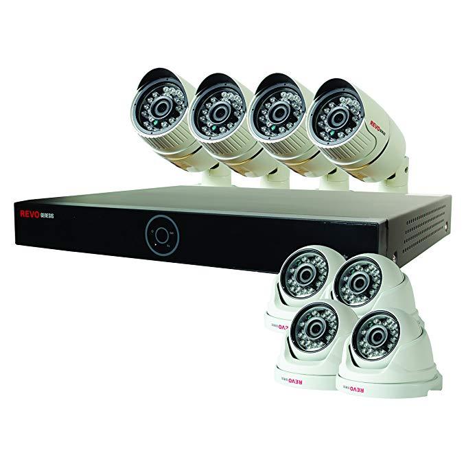 REVO America RG161D4CB4C-2T Genesis HD 16 Ch. 2TB NVR Surveillance System with 8 1080p 2MP Cameras (White)